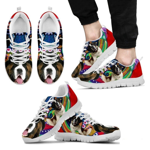 Saint Bernard Dog Print Running Shoe For Men- Free Shipping-Paww-Printz-Merchandise