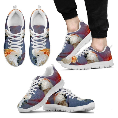Salmon-Crested Cockatoo Parrot Running Shoes For Men-Free Shipping-Paww-Printz-Merchandise