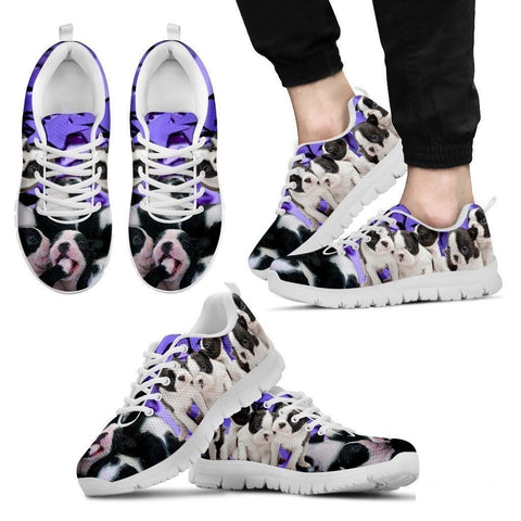Boston Terrier Group-Dog Running Shoes For Men-Free Shipping Limited Edition-Paww-Printz-Merchandise
