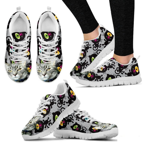 Sammie Jo Hook-Cat Running Shoes For Women-Free Shipping-Paww-Printz-Merchandise