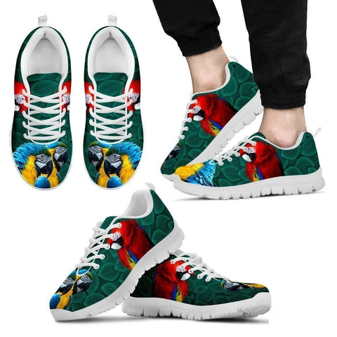 Scarlet Macaw Parrot Running Shoes For Men-Free Shipping Limited Edition-Paww-Printz-Merchandise