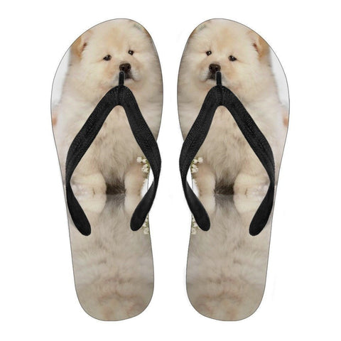 Chow Chow Puppy Flip Flops For Men-Free Shipping-Paww-Printz-Merchandise