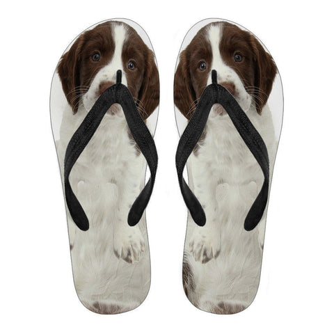 English Springer Spaniel Flip Flops For Men-Free Shipping Limited Edition-Paww-Printz-Merchandise