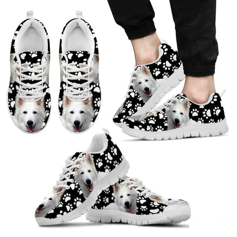 Dog  Paws Print (Black/White) Running Shoes For Men-Free Shipping Limited Edition-Paww-Printz-Merchandise