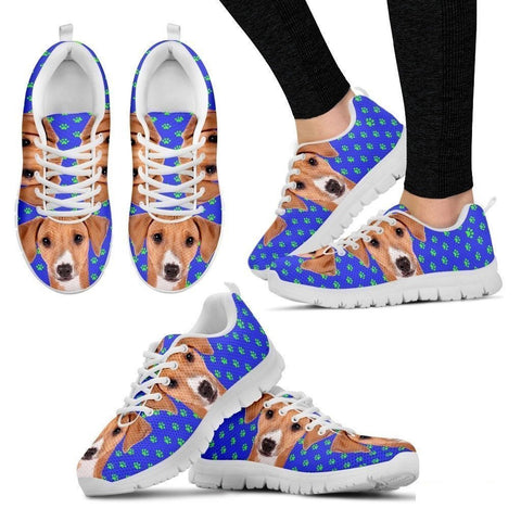 Azawakh Dog (White/Black) Running Shoes For Women-Free Shipping-Paww-Printz-Merchandise