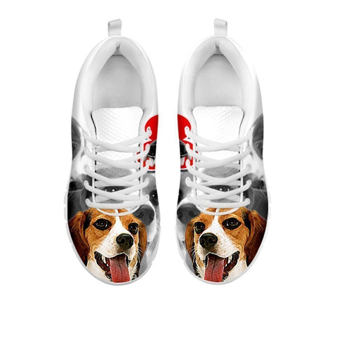 Amazing Beagle Print Running Shoes For Women-Free Shipping- For 24 Hours Only-Paww-Printz-Merchandise