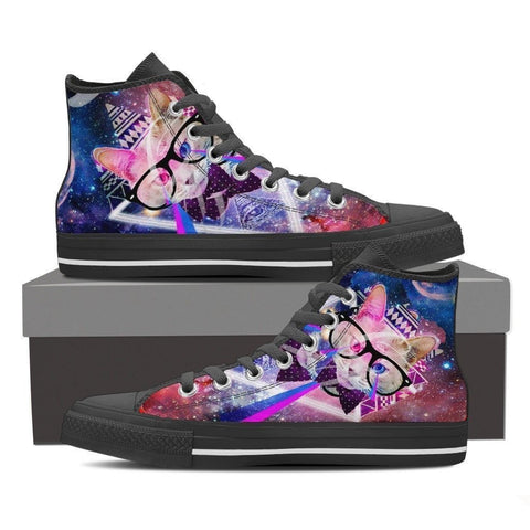 Cat Canvas Shoes For Women- Free Shipping-Paww-Printz-Merchandise