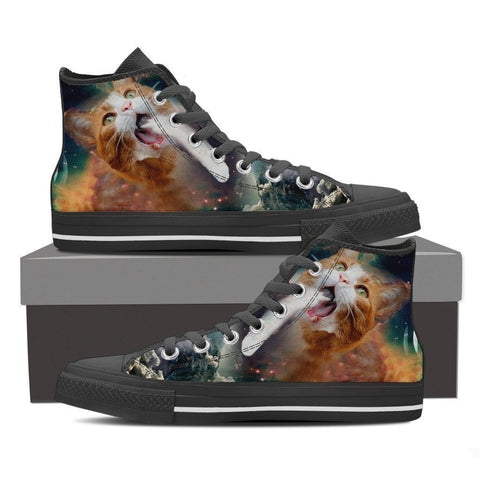 Cat Canvas Women's Shoes- Free Shipping-Paww-Printz-Merchandise