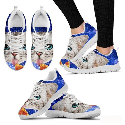 Cat Eat Pizza Running Shoes-3D Print For Women-Free Shipping-Paww-Printz-Merchandise