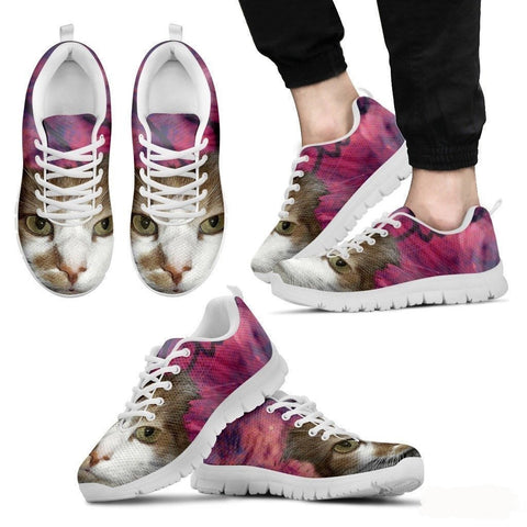 Cat Print Pink Running Shoe Men- Free Shipping-Paww-Printz-Merchandise