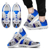 Cool 'Central Asian Shepherd Dog' (White/Black) Running Shoes For Men-Free Shipping-Paww-Printz-Merchandise