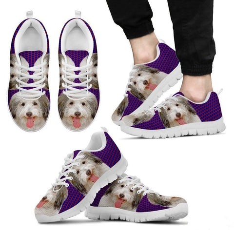 Coton De Tulear Dog (White/Black) Running Shoes For Men-Free Shipping-Paww-Printz-Merchandise
