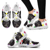 Curly Coated Retriever Dog (White/Black) Running Shoes For Women-Free Shipping-Paww-Printz-Merchandise