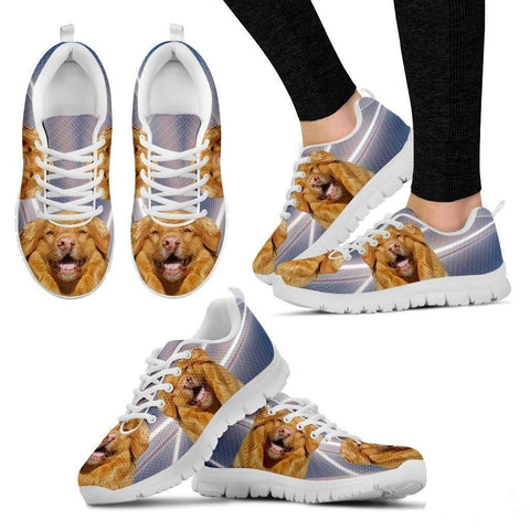 Customized Dog Print (White/Black) Running Shoes For Women-Free Shipping-Paww-Printz-Merchandise