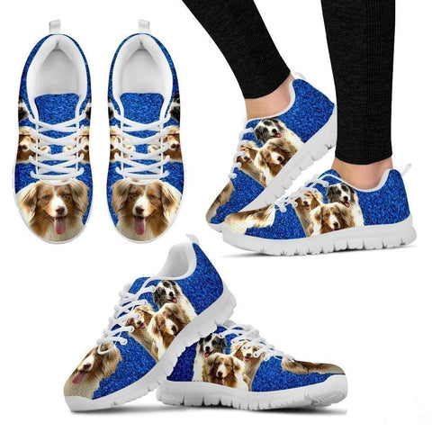Customized Three Dog Print (Black/White) Running Shoes For Women-Free Shipping-Paww-Printz-Merchandise