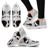 DANISH SWEDISH FARMDOG Dog Print (Black/White) Running Shoes For Women-Free Shipping-Paww-Printz-Merchandise