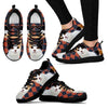 Japanese Bobtail Cat Print (White/Black) Running Shoes For Women-Free Shipping-Paww-Printz-Merchandise