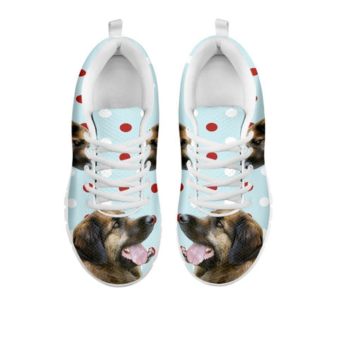 Amazing Leonberger With Red White dots Print Running Shoes For Women-Free Shipping-For 24 Hours Only-Paww-Printz-Merchandise