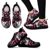 Egyptian Mau Cat Print (Black/White) Running Shoes For Women-Free Shipping-Paww-Printz-Merchandise