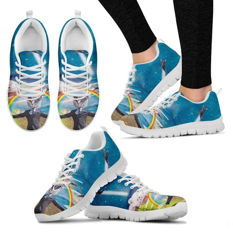 Rainbow Cat Running Shoes For Women-3D Print-Free Shipping-Paww-Printz-Merchandise