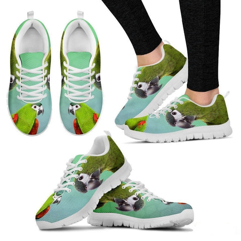 Red Shouldered Macaw Parrot Running Shoes For Women-Free Shipping-Paww-Printz-Merchandise