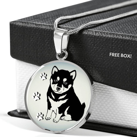 Shiba Inu Dog Print Luxury Necklace-Free Shipping
