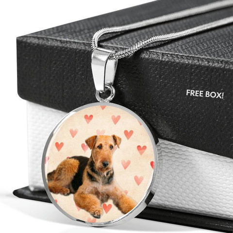 Airedale Terrier Print Luxury Necklace -Free Shipping