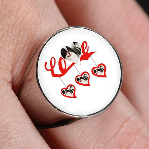 Japanese Chin Print Signet Ring-Free Shipping