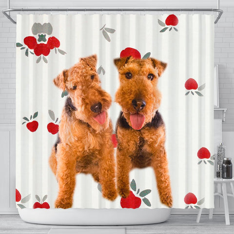 Welsh Terrier Dog Print Shower Curtain-Free Shipping