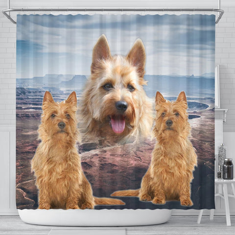 Lovely Australian Terrier Print Shower Curtains-Free Shipping