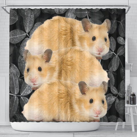 Cute Golden Hamster Print Shower Curtains-Free Shipping