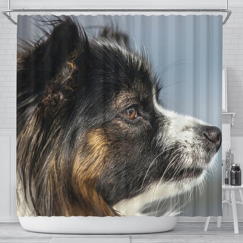 Papillon Dog Side View Print Shower Curtains-Free Shipping