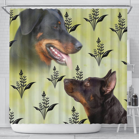 Beauceron Dog Print Shower Curtain-Free Shipping