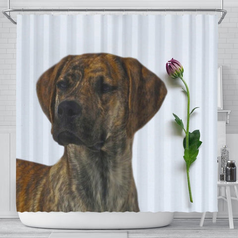 Plott Hound Dog Print Shower Curtain-Free Shipping