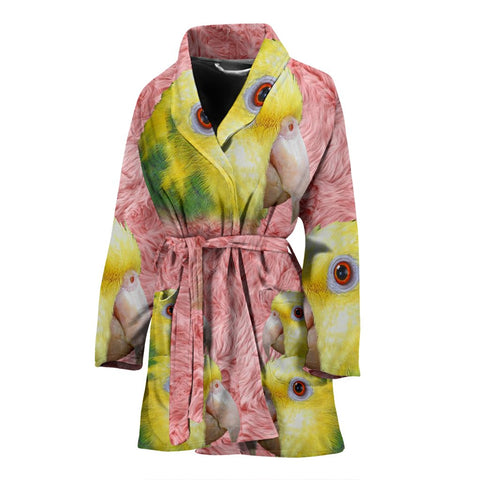 Amazon Parrot Print Women's Bath Robe-Free Shipping