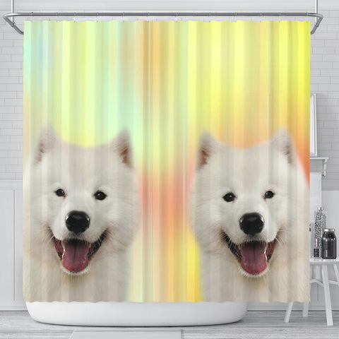 Samoyed dog Print Shower Curtain-Free Shipping