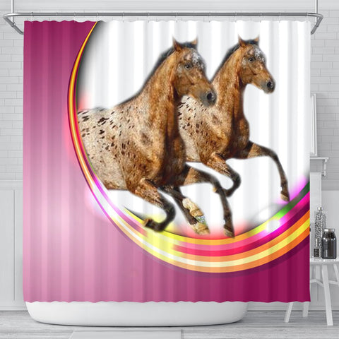 Appaloosa Horse Print Shower Curtain-Free Shipping