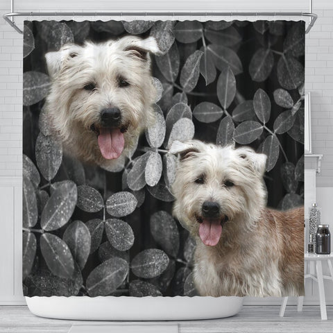 Glen Of Imaal Terrier Print Shower Curtains-Free Shipping