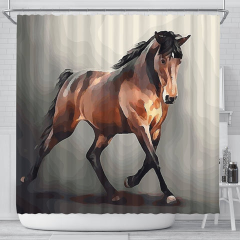 Tennessee Walking Horse Print Shower Curtain-Free Shipping