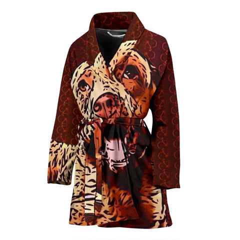 Chesapeake Bay Retriever Dog Print Women's Bath Robe-Free Shipping
