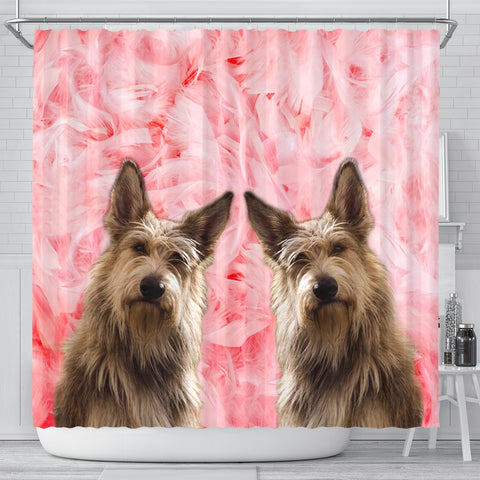 Berger Picard On Pink Print Shower Curtains-Free Shipping