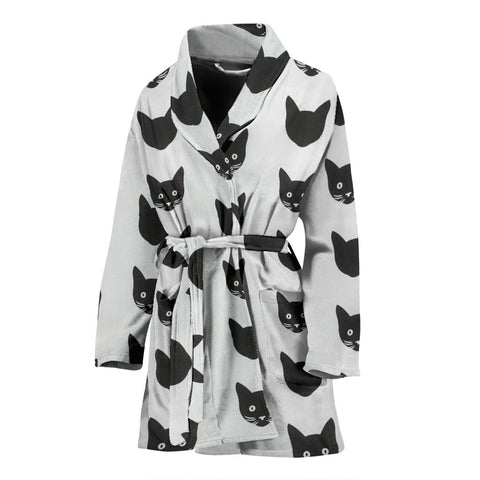 Bombay Cat Pattern Print Women's Bath Robe-Free Shipping