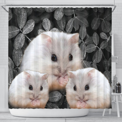 Cute Chinese Hamster Print Shower Curtains-Free Shipping