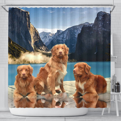 Nova Scotia Duck Tolling Retriever Print Shower Curtains-Free Shipping