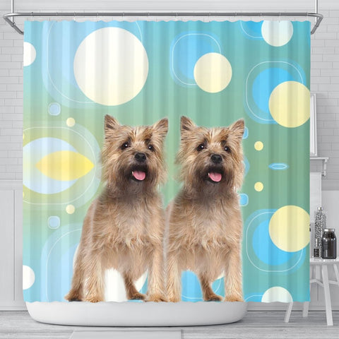Cute Cairn terrier Dog Print Shower Curtain-Free Shipping