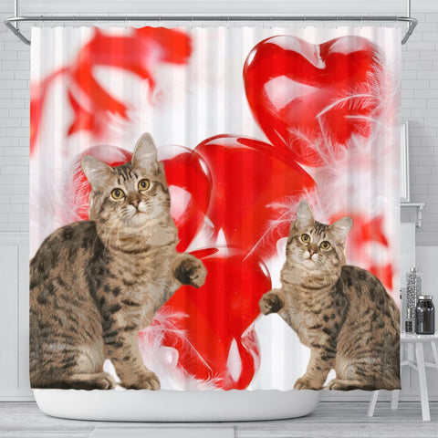 American Bobtail Print Shower Curtains-Free Shipping