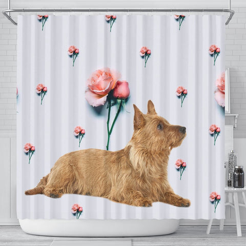 Australian Terrier Print Shower Curtain-Free Shipping