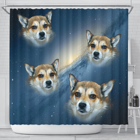 Norwegian Lundehund Print Shower Curtains-Free Shipping