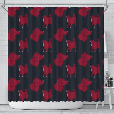 Nova Scotia Duck Tolling Retriever Print Shower Curtain-Free Shipping