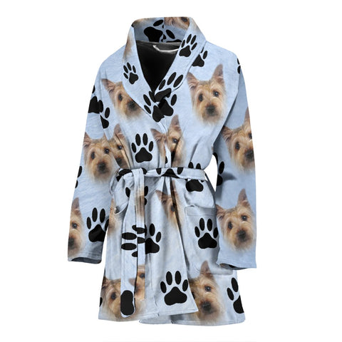 Cairn Terrier Patterns Print Women's Bath Robe-Free Shipping